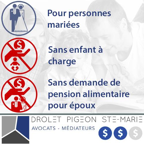 Divorce Forfait Tout Inclus 1 Drolet Pigeon Ste Marie Avocats Inc